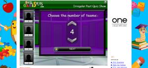 Irregular Past Tense ESL Grammar Jeopardy Quiz Game
